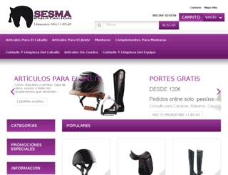 sesmaequitacion.es screenshot
