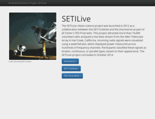 setilive.org screenshot