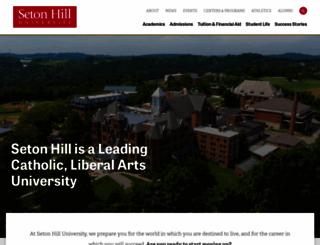 setonhill.edu screenshot