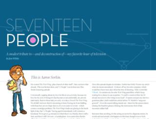 seventeenpeople.com screenshot