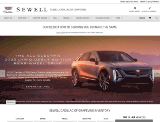 sewellcadillac-grapevine.com screenshot