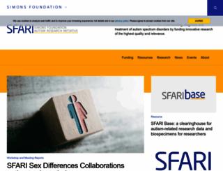 sfari.org screenshot