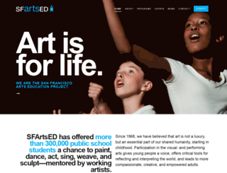sfartsed.org screenshot