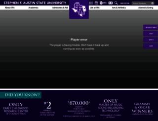 sfasu.edu screenshot