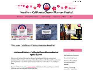 sfcherryblossom.org screenshot