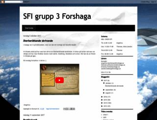 sfigrupp3forshaga.blogspot.se screenshot