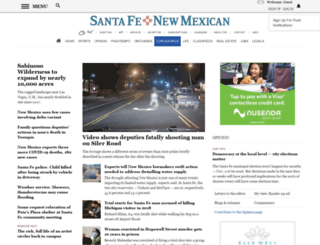 sfnewmexican.com screenshot