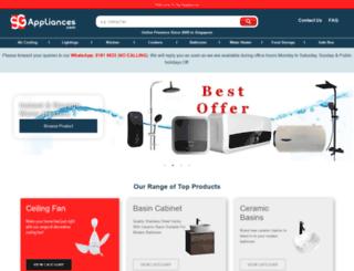 sgappliances.com screenshot
