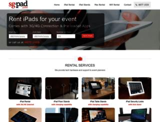 sgpad.com screenshot