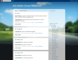 sgsmiddleschoolhomework.blogspot.com screenshot