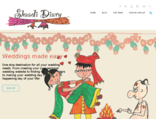 shaadidiary.com screenshot