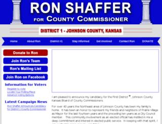 shafferforcountycommissioner.com screenshot