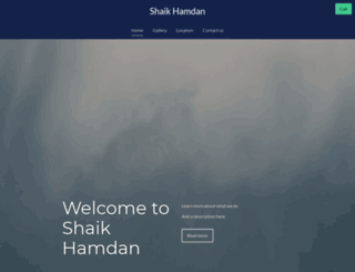 shaikhamdan.com screenshot