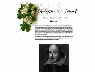shakespeares-sonnets.com screenshot