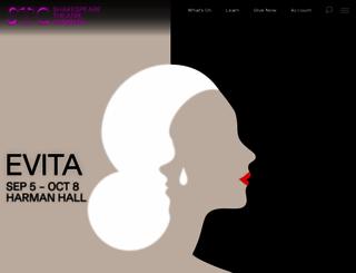 shakespearetheatre.org screenshot