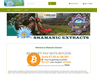 shamanic-extracts.com screenshot