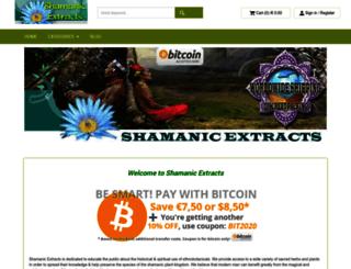 shamanic-extracts.info screenshot