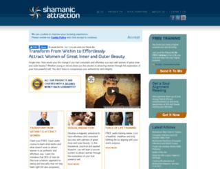 shamanicattraction.com screenshot