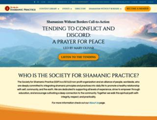 shamansociety.org screenshot