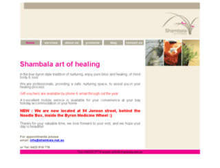 shambala.net.au screenshot