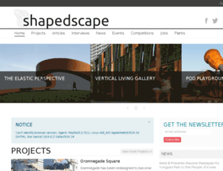shapedscape.com screenshot