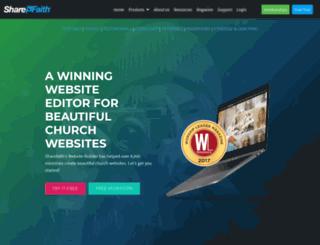 sharefaithwebsites.com screenshot