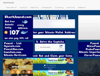 sharkfaucet.com screenshot