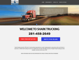 sharktrucking.com screenshot