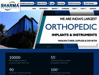 sharmaortho.com screenshot
