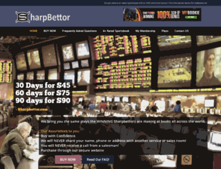 sharpbettor.com screenshot