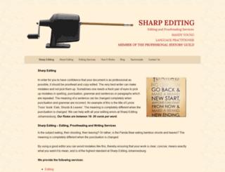 sharpediting.co.za screenshot