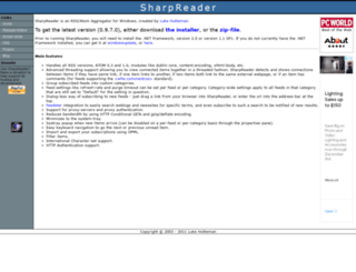 sharpreader.com screenshot