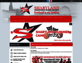 sharylandisd.org screenshot