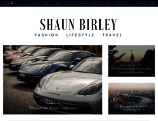 shaunbirley.com screenshot