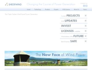 sheerwind.com screenshot