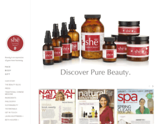 sheessentialbeauty.com screenshot
