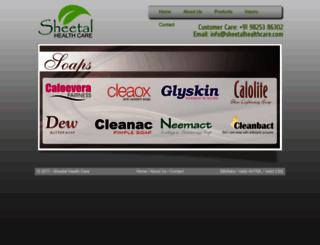 sheetalhealthcare.com screenshot