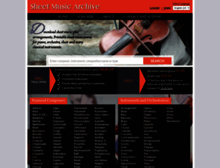 sheetmusicarchive.net screenshot