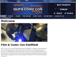 sheffieldfilmandcomiccon.com screenshot