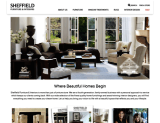 sheffieldfurniture.com screenshot