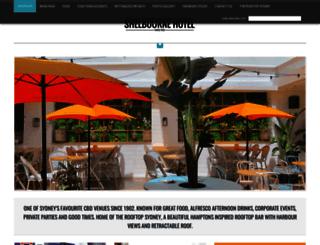 shelbournehotel.com.au screenshot