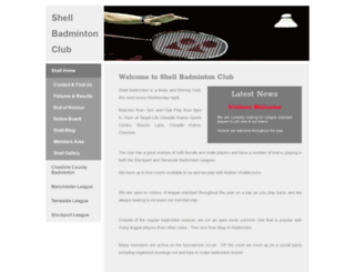 shellbadminton.co.uk screenshot