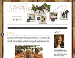 shelstringblog.blogspot.com screenshot