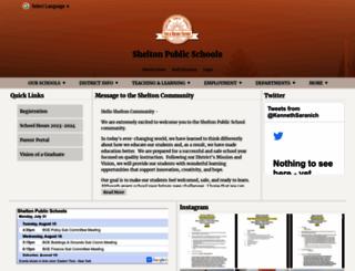 sheltonpublicschools.org screenshot