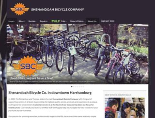 shenandoahbicycle.com screenshot