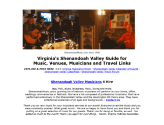 shenandoahmusic.com screenshot