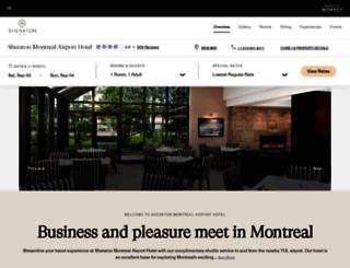 sheratonmontrealairport.com screenshot