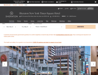 sheratonnewyork.com screenshot