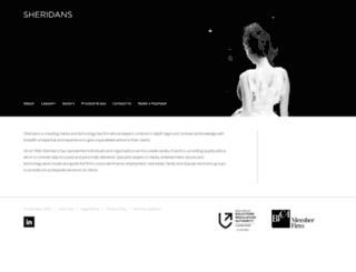 sheridans.co.uk screenshot
