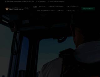 sheriffleefl.org screenshot